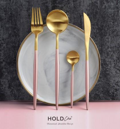 304不銹鋼餐具 真空鍍鈦西餐不銹鋼刀叉餐具四件套組 / 加碼贈送同款筷子  small ki