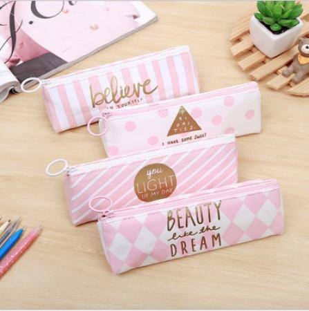 粉色小青新筆袋/創意筆袋/禮品