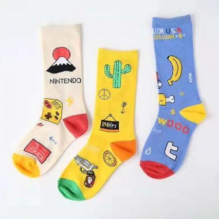 不對稱襪子套組 / 情侶襪 / 趣味襪  / 三件一組 small ki