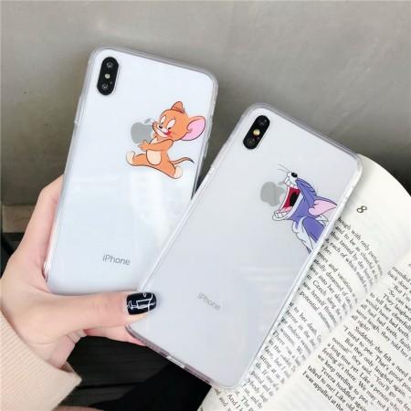 I PHONE 手機殼  湯姆貓與傑利鼠 / 玻璃款