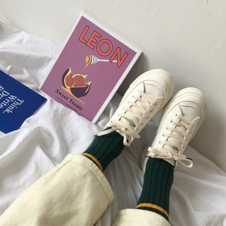 [買二送一]韓版復古百搭小白鞋 / 學生鞋   35-40   small ki