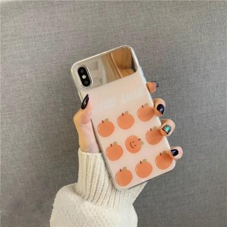 鏡面小橘子 IPHONE 手機殼  / 補妝超方便