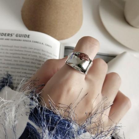 S925純銀  不規則光感開口戒指/不分戒圍