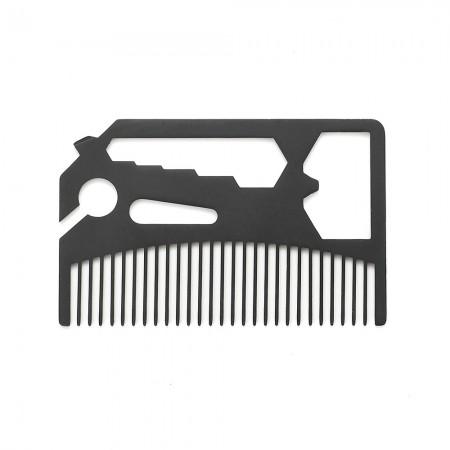 男士不銹鋼多功能卡造型專業鬍子梳子  small ki