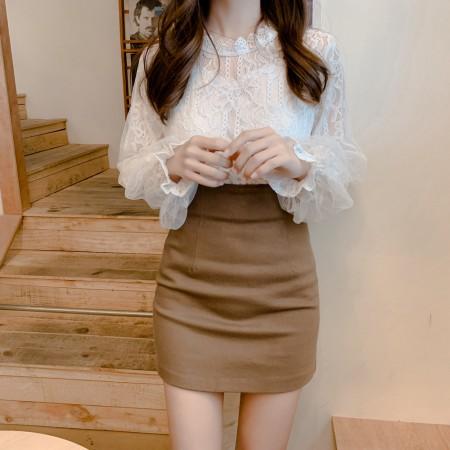 蕾絲泡泡袖上衣S~XL SMALL KI