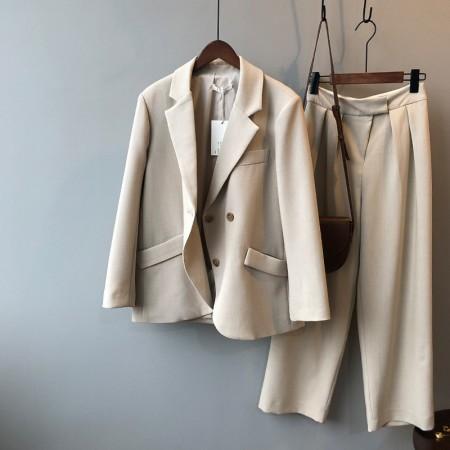 春季新款兩粒扣高質感氣質西裝小外套 M-L