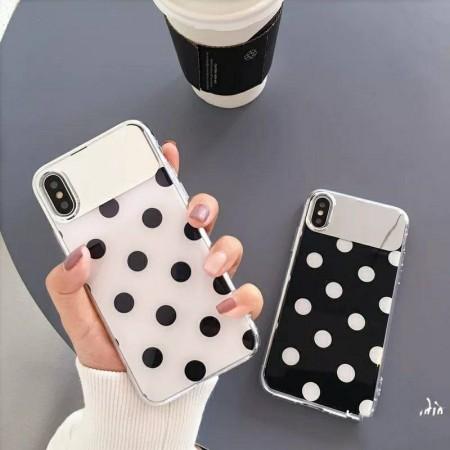 黑白點點鏡面 i phone 手機殼