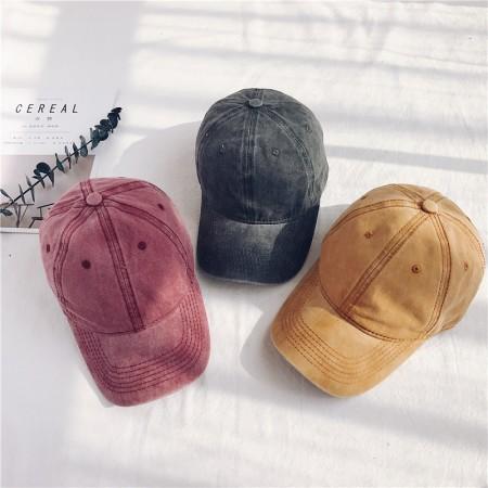 刷舊感單色系棒球帽/老帽  small ki