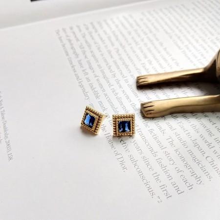 S925純銀 巴洛克復古風格耳針耳環