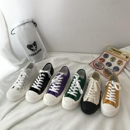 韓版復古帆布休閒鞋餅乾鞋   35-40  small ki
