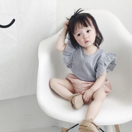 [零碼出清特價] small kids 夏季女童荷葉邊襯衫上衣  女童 / 女童裝 / small ki