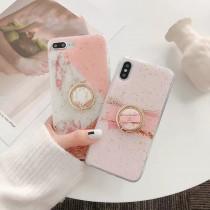 粉色金箔款 環可拆 I PHONE 手機殼