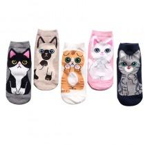 貓控短襪   五雙一組不挑色