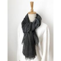 [現貨] 秋季棉質格紋編織披肩圍巾 酒紅 灰色各一
