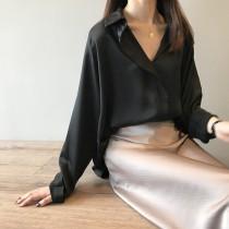 [現貨] 氣質綢緞面質感襯衫   SMALL KI