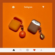 airpods保護套  熱帶水果~榴槤橘子