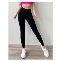 健美提臀彈力健身褲運動跑步訓練壓縮瑜珈運動褲 S/M - L/XL