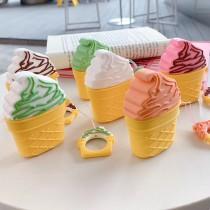 AIRPODS保護套  冰淇淋甜筒附掛繩