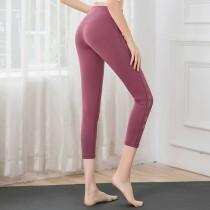 車線側簍空七分彈力瑜珈褲健身褲  S-L SMALL KI