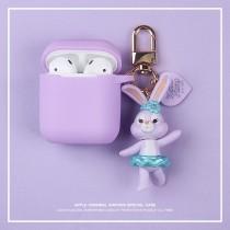 [現貨]AIRPODS保護套 達菲兔 家族系列  粉/紫