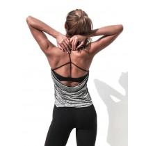 假兩件式撞色健身瑜珈背心  S - XL  SMALL KI