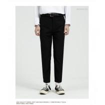男裝 夏季韓版純色修身顯瘦九分英倫風西裝直筒小腳褲 M-4XL