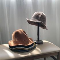 坑條紋日系透氣漁夫帽  small ki