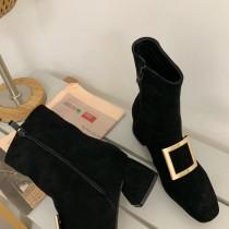 [預購] 金方扣彈力襪靴  34 - 39  small ki