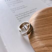925純銀 不過敏不分戒圍 菱形切割戒指  small ki