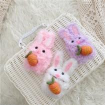 AIRPODS保護套  絨毛兔兔