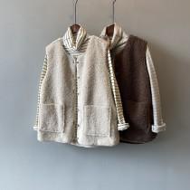 冬季新款高羊毛馬甲寬鬆無袖外套M~L SMALL KI