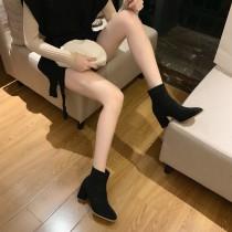 麂皮矮跟襪靴 35~39 small ki