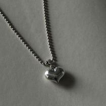 925純銀 不過敏 手工訂製愛心銀珠項鍊  small ki