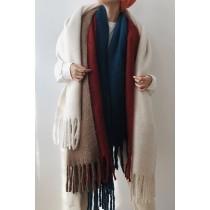 大大的馬海毛加厚圍巾 175cm以上