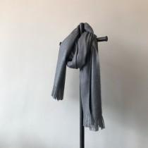 [現貨] 冬季新款純色仿羊絨百搭經典流蘇加厚保暖披肩 灰色 黑色 綠色各一件  small ki