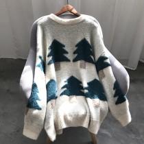 森林系秋冬韓版慵懶風圓領針織毛衣 SMALL KI