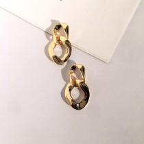 歐美金屬風鎖鏈型耳針式耳環