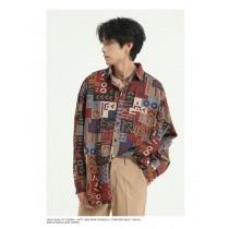 男裝 復古襯衫  M-XL