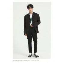 春季新款男版寬鬆韓版潮流單扣休閒西裝外套  S- XL