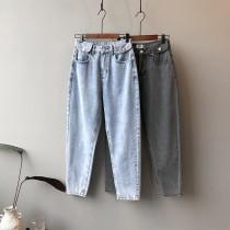 韓版高腰顯瘦百搭款老爹褲  S - XL