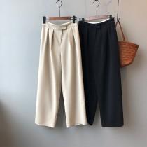 春季新款西裝寬褲高腰顯瘦垂墜感滿分  M L