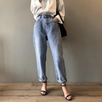 新款高腰牛仔褲顯瘦哈倫褲 S - XL