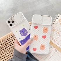 小熊鏡頭滑蓋保固iphone全系列手機殼