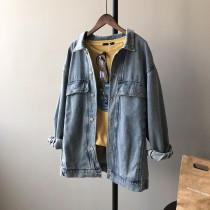 [現貨]韓版寬松大版牛仔復古外套