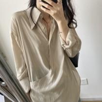 夏季新色氣質天絲設計感襯衫 M L
