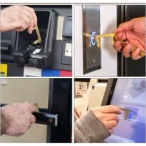 防疫時尚小物 保護你的第二隻手 金屬防疫鑰匙圈  small ki