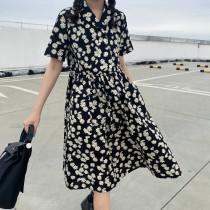 小雛菊連身寬鬆洋裝