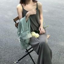 夏季吊帶寬鬆顯瘦垂墜感背心洋裝