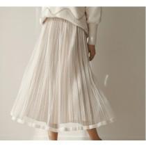 [預購] 秋冬A字高腰復古紗裙  SMALL KI