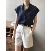 夏季設計款小眾短袖襯衫  M L